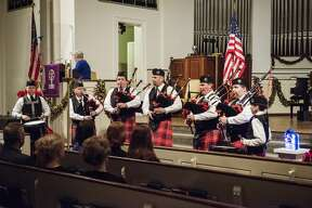 The White Pine Celtic Arts performs Amazing Grace during the Project Blue Light ceremony at Memorial Presbyterian Church in Midland on Sunday. The event honors law enforcement and first responders who have fallen in the line of duty, as well as recognizes those who work to keep the public safe.