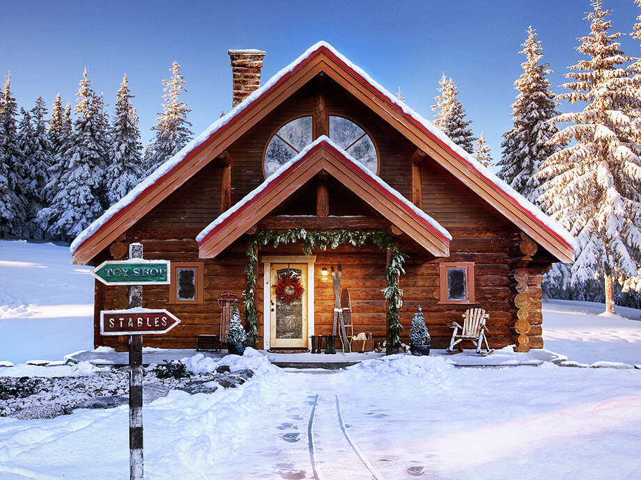 Showing the festive side of real estate, the real estate website Zillow has a listing for Santa's House at the North Pole. The 25-acre property includes a toy workshop and stables for eight live-in reindeer. (Zillow) Photo: Zillow