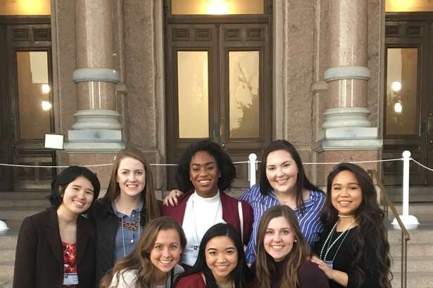 During Thanksgiving break, 14 members of Incarnate Word Academy's chapter of  Junior Statesmen of America attended the annual JSA Fall State Convention at the Texas Capitol in Austin. Among the students were two Pearland residents, Morgan Hall (front row, far left) and Domanique Williams (back row, center).