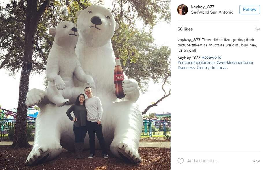 "5. SeaWorld San Antonio""They didn't like getting their picture taken as much as we did...buy hey, it's alright,"" @kaykay_877.  Photo: Instagram"