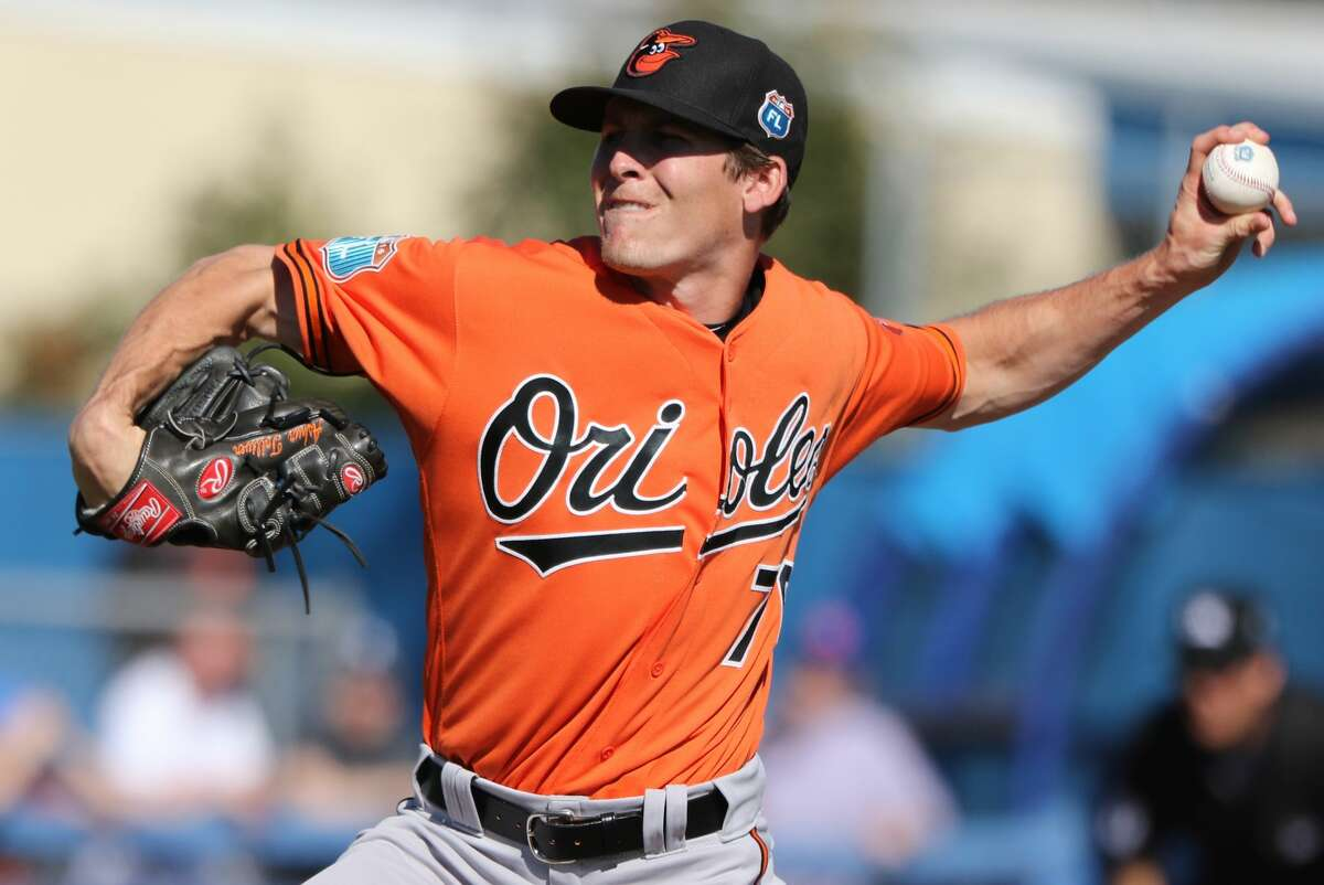 DUNEDIN, FL- MARCH 04: Ashur Tolliver #76 of the Baltimore Orioles in action during the game against the Toronto Blue Jays at Florida Auto Exchange Stadium on March 4, 2016 in Dunedin, Florida. (Photo by Justin K. Aller/Getty Images)
