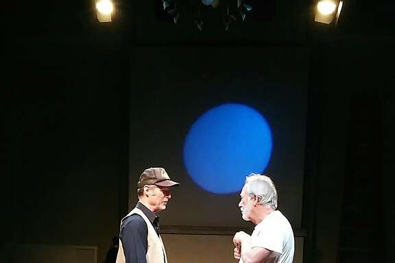 "Byron (Don Wood, left) and Ames (David Cramer) in Anton's Well Theater Company's ""Ages of the Moon."""