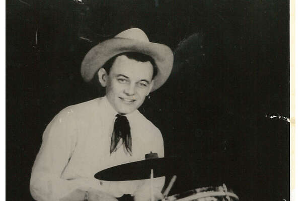 Johnny Edwards at his drums. Photo date unkown Photo provided by