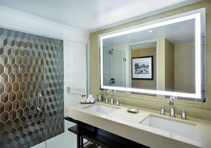 Newly upgraded bathrooms at the Arizona Biltmore have an element of Old Hollywood as well as modern luxury.