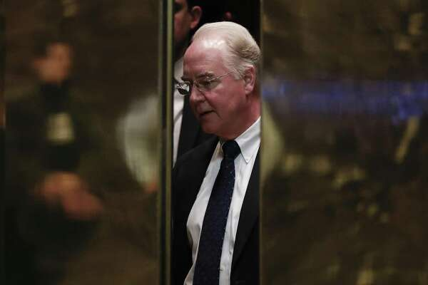 Elevators close on Rep. Tom Price, R-Ga., as he arrives at Trump Tower. Price, Trump's pick for health and human servcies secretary, has opposed Medicare's efforts to move away from fee-for-service-based care, and toward more value-based care.