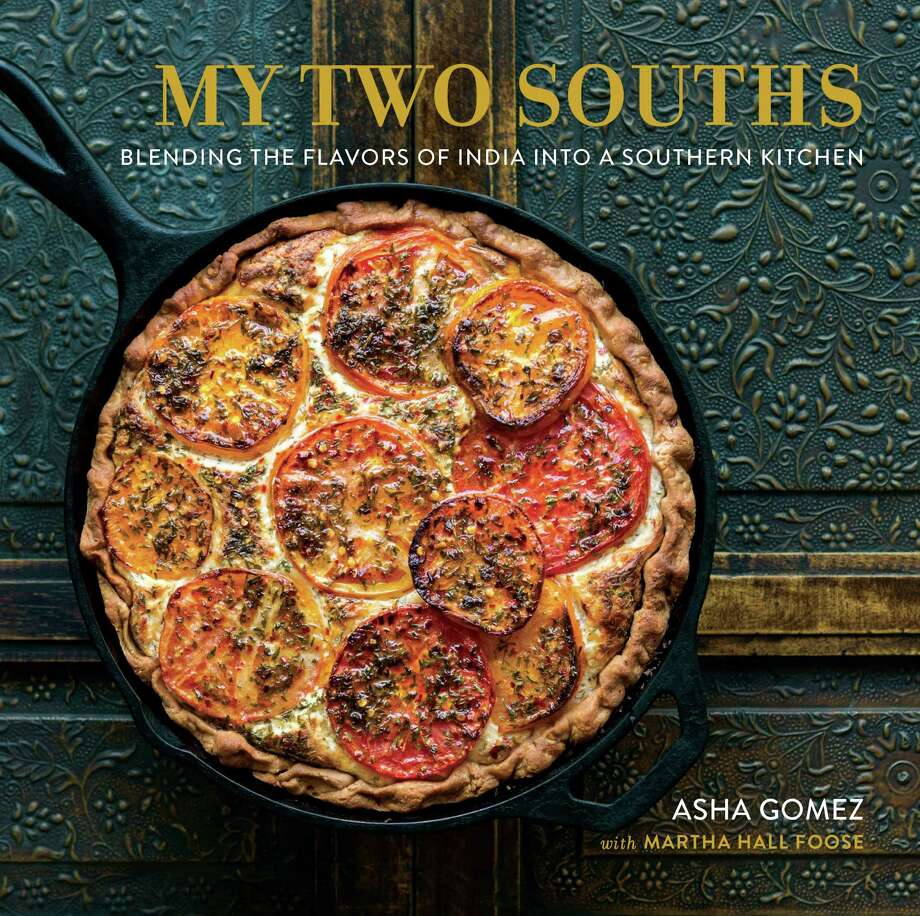 """Cover: """"My Two Souths: Blending the Flavors of Indian into a Southern Kitchen"""" by Asha Gomez with Martha Hall Foose (Running Press, $35). Photo: Evan Sung"""