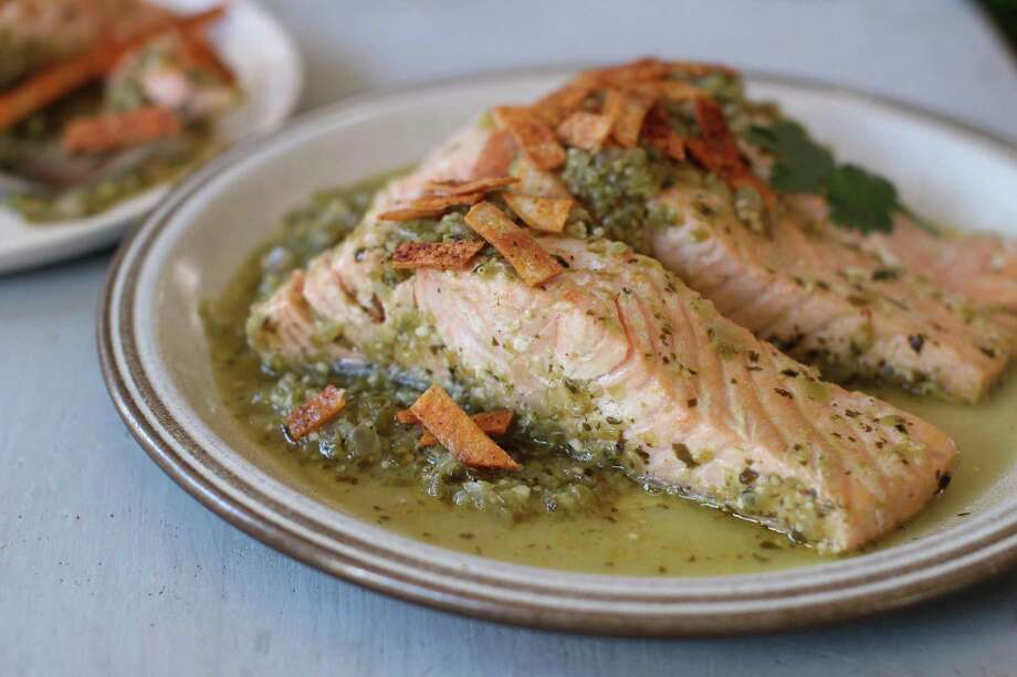 This version of poached salmon doesn't require a vat of salsa. Photo: Matthew Mead, FRE / FR170582 AP