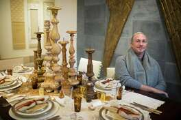 Interior designer Robert Leleux by his holiday tablescape at the Houston Design Center, Tuesday, Nov. 29, 2016, in Houston. ( Marie D. De Jesus / Houston Chronicle )