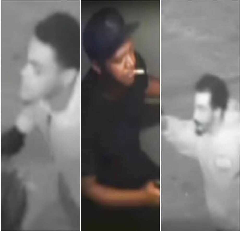 The Harris County Sheriff's Office is searching for three men believed to be responsible for the shooting death of a game room security guard in north Houston. Photo: Harris County Sheriff's Office