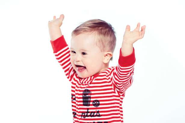 Asher Nash went viral for his adorable modeling photos and has landed his first ad campaign with Oshkosh B'Gosh.