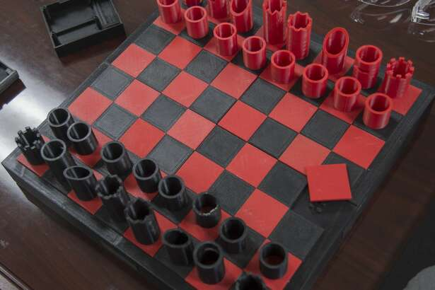 A complete chess set, including each piece, the board pieces, and the box to hold everything was made at the Idea Factory at Midland College's ATC. Wednesday 11-30-16  Tim Fischer/Reporter-Telegram