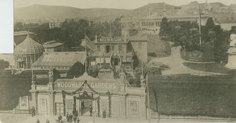 Early view of Woodward's Garden shows the entrance to the amusement park which was on Mission and 13th Streets. The park, which opened in 1866 and closed in the 1890's, attracted thousands of people. This rare image comes from the San Francisco Chronicle's archives.  Photo: Chronicle Archives