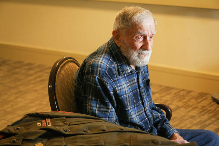 World War II veteran Fritz Weinhofer, 93, recalls some of his experiences as a Marine in the Pacific campaigns on Monday, Dec. 5, 2016.