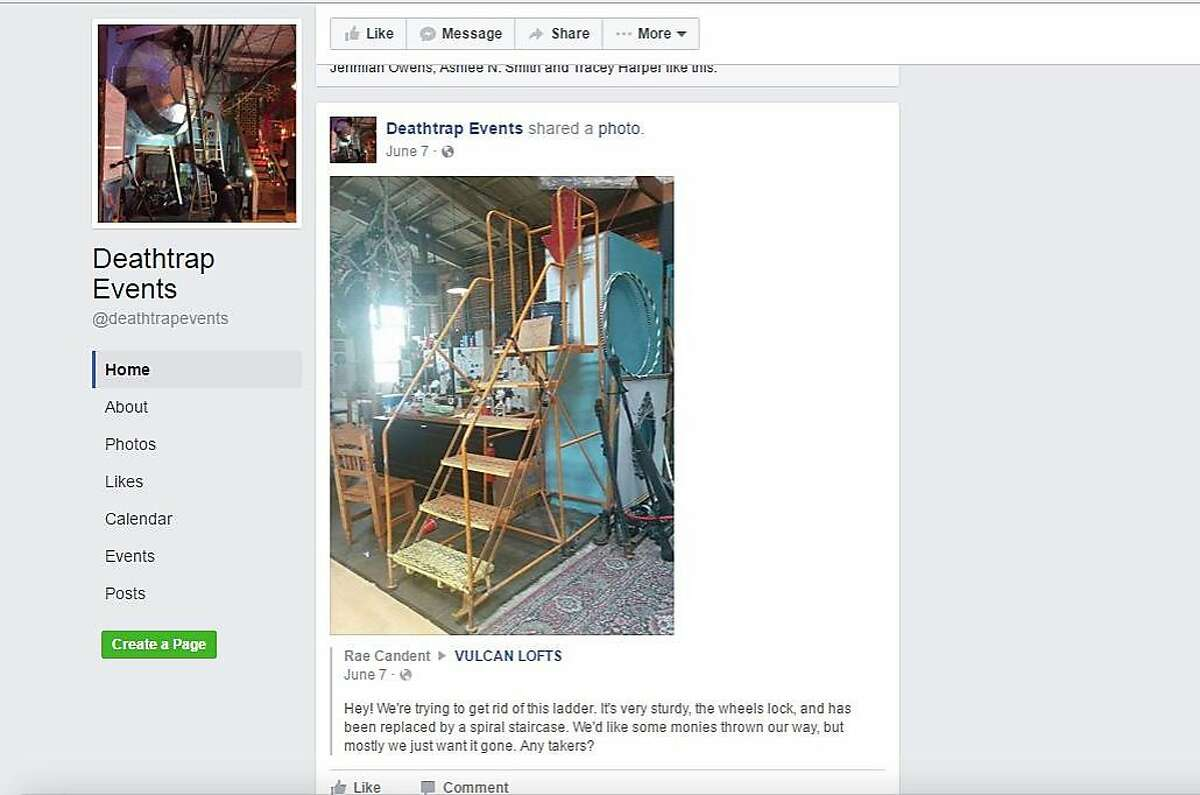 A screen grab of a Death Trap Facebook page.