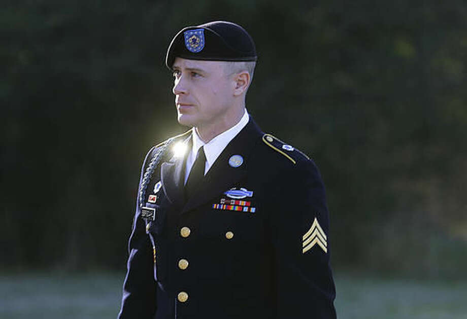 FILE - In this Jan. 12, 2016, file photo, Army Sgt. Bowe Bergdahl arrives for a pretrial hearing at Fort Bragg, N.C. Bergdahl, a former prisoner of war accused of endangering his U.S. comrades by walking off his post in Afghanistan is asking President Barack Obama to pardon him before leaving office. White House and Justice Department officials say Bergdahl submitted the clemency request. If granted, it would allow Bergdahl to avert a court-martial trial scheduled for April. He faces charges carrying a maximum penalty of life in prison. (AP Photo/Ted Richardson, File) Photo: Ted Richardson