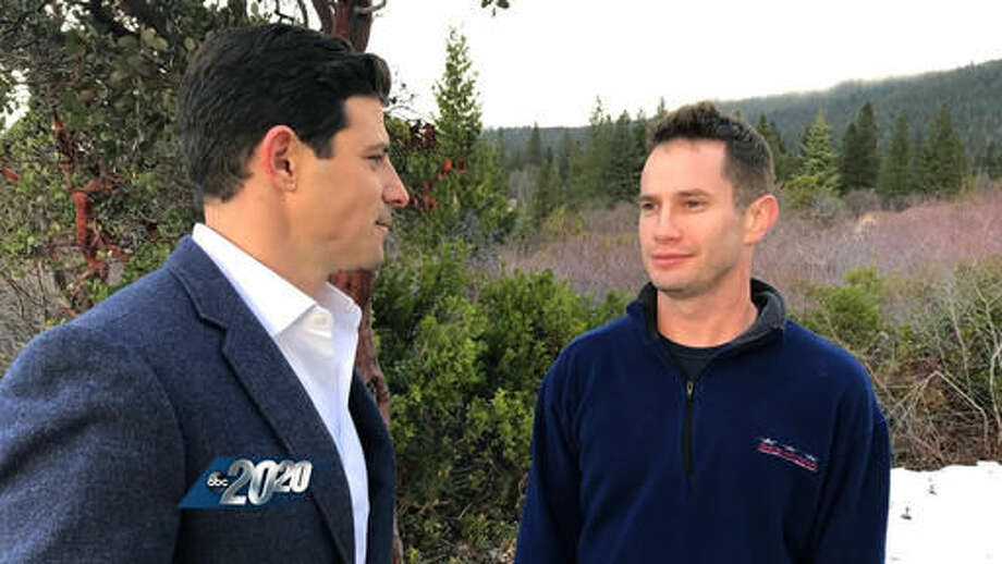 """In this undated image provided by ABC News, television anchor Matt Gutman, left, interviews Keith Papini, the husband of Sherri Papini, a California mother who went missing for three weeks, on """"20/20"""". The interview airs Friday, Dec. 2, 2016, at 10 p.m. ET. (ABC News via AP) Photo: HONS"""