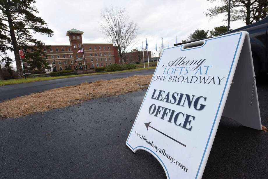 Albany Lofts at One Broadway has an open house on Monday, Dec. 5, 2016 in Menands, N.Y. The building is the former Albany International corporate headquarters. (Lori Van Buren / Times Union) Photo: Lori Van Buren / 20039023A