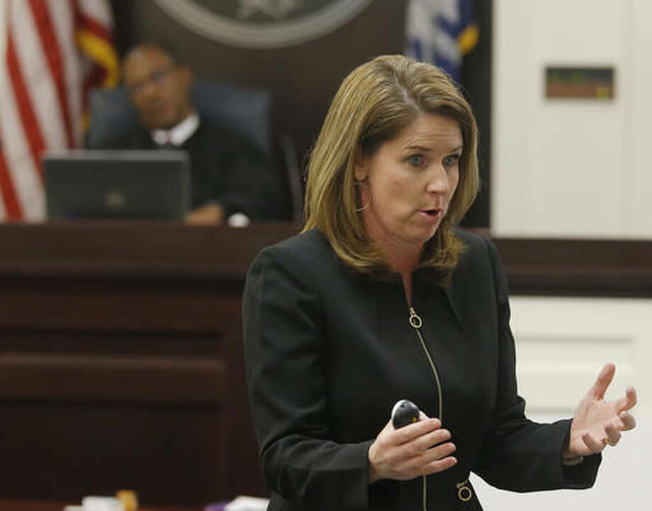 Ninth Circuit Solicitor Scarlett Wilson speaks to the jury during the murder trial of North Charleston police officer Michael Slager at the Charleston County court in Charleston, S.C., Wednesday, Nov. 30, 2016. Closing arguments are underway in a South Carolina courtroom in the trial of a white former police officer charged with murder in the shooting death of an unarmed black motorist. (Grace Beahm/Post and Courier via AP, Pool) Photo: Grace Beahm