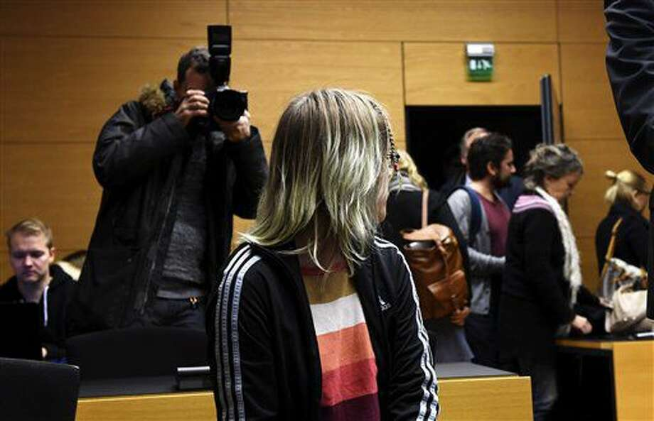 An unidentified 21-year-old Finnish woman is pictured at the Helsinki District Court on Friday Nov. 11, 2016. Prosecutors said the woman a former student was planning a school shooting in central Finland that would kill at least 40 students.(Vesa Moilanen, Lehtikuva via AP) Photo: Vesa Moilanen