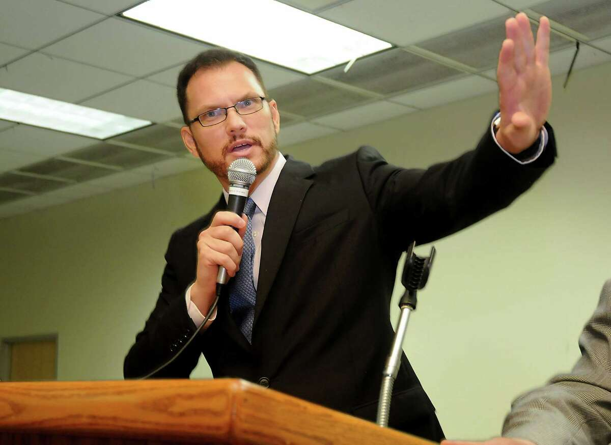 Harris County Democratic Chair Lane Lewis speaks at a meeting of Harris County Precinct 1 Chairs at CWA Local 6222 downtown Saturday June 25,2016.(Dave Rossman Photo)