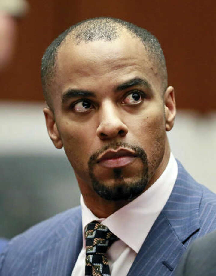FILE - In this March 23, 2015, file photo, former NFL football player Darren Sharper appears in Los Angeles Superior Court. The former NFL star case reaches its conclusion Tuesday, Nov. 29, 2016, in the courthouse where he first admitted drugging and raping women in four states. The sentencing in Los Angeles Superior Court marks the end of prosecutions that unmasked the popular former all-pro safety and Super Bowl champ as a serial rapist. (AP Photo/Nick Ut, Pool, File) Photo: Nick Ut