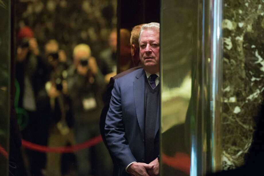 Former Vice President and climate activist Al Gore arrives Monday at Trump Tower, where he met with the president-elect and Ivanka Trump. Photo: Kevin Hagen, Stringer / 2016 Getty Images
