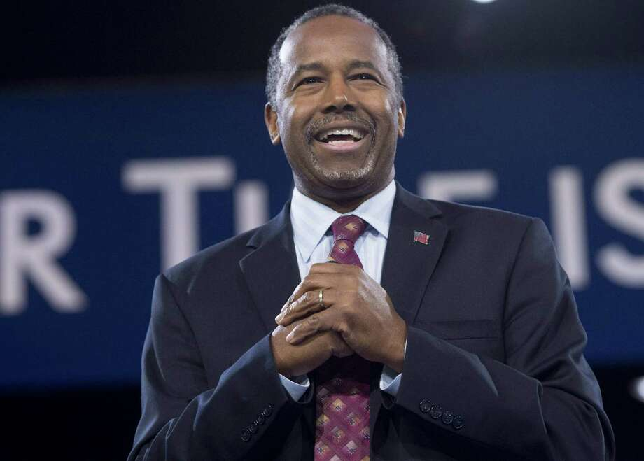 (FILES) This file photo taken on March 05, 2016 shows Republican Presidential hopeful Ben Carson speaking during the annual Conservative Political Action Conference (CPAC) 2016 at National Harbor in Oxon Hill, Maryland, outside Washington. US President-elect Donald Trump on December 5, 2016 chose Ben Carson, the mild-mannered retired neurosurgeon who challenged him for the Republican nomination, to turn around troubled US inner cities as secretary of housing and urban development.  / AFP PHOTO / SAUL LOEBSAUL LOEB/AFP/Getty Images Photo: SAUL LOEB, Staff / AFP or licensors