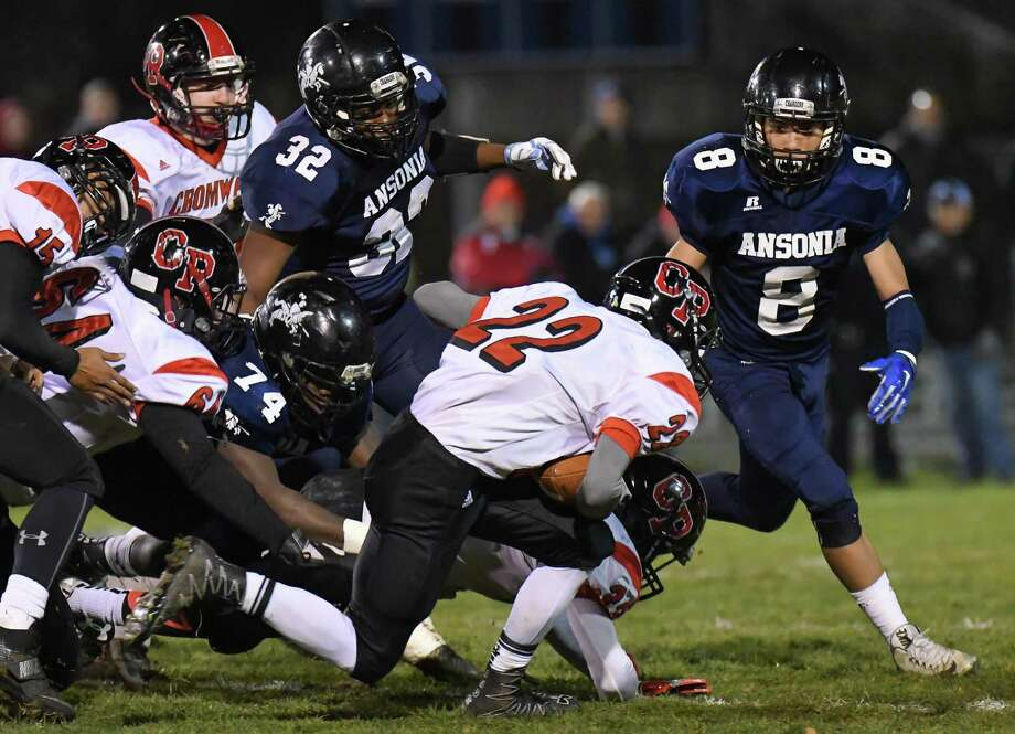 Class S High School semi-final football action between the Ansonia Chargers and the Cromwell/Portland Panthers on December 5, 2016 at Jarvis Stadium in Ansonia, Connecticut. Photo: Gregory Vasil / For Hearst Connecticut Media / Connecticut Post Freelance