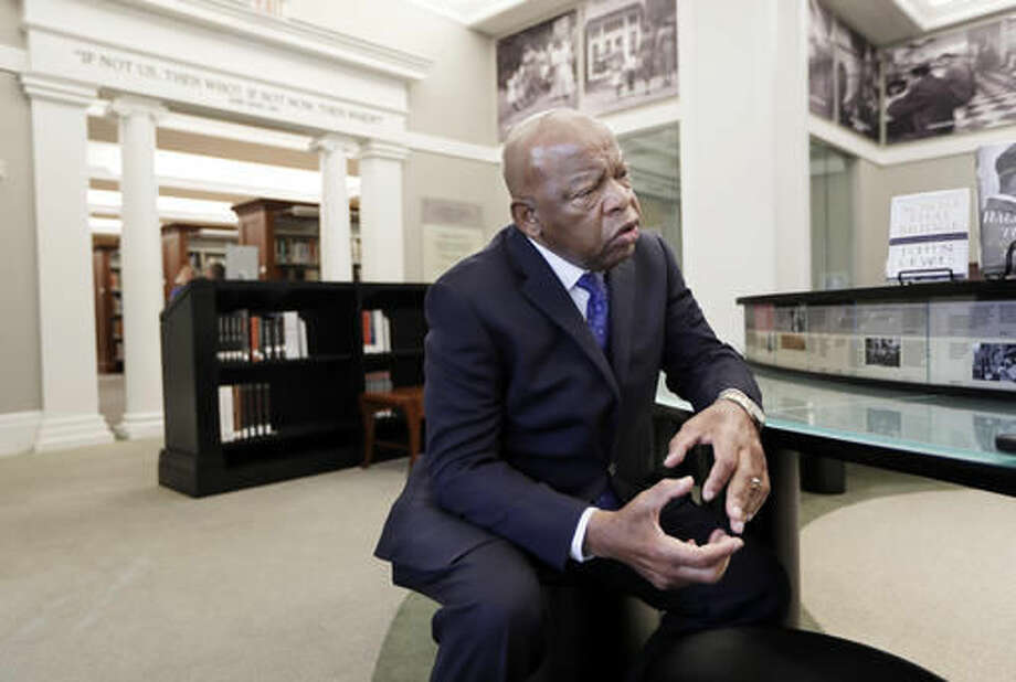 Rep. John Lewis, D-Ga., is interviewed in the Civil Rights Room at the Nashville Public Library Friday, Nov. 18, 2016, in Nashville, Tenn. Lewis will be honored this weekend in Nashville, where the civil rights leader once organized sit-ins at the city's segregated lunch counters. Lewis is being recognized with the Nashville Public Library Literary Award. (AP Photo/Mark Humphrey) Photo: Mark Humphrey