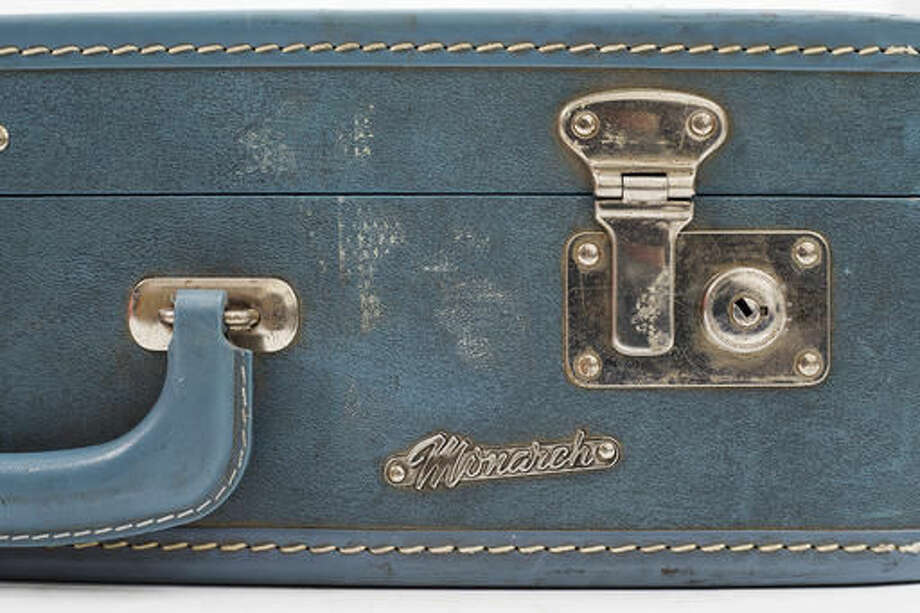 ADVANCE FOR WEEKEND EDITIONS, NOV. 19-20 - In this Saturday, Nov. 12, 2016 photo, a blue Monarch suitcase, found in a storage unit rented by Paul McCulloh, is photographed at the Yakima Herald-Republic in Yakima, Wash. McCulloh originally rented the unit in 1960 and returned to the belongings of another person 51 years later. (Shawn Gust/Yakima Herald-Republic via AP) Photo: Shawn Gust