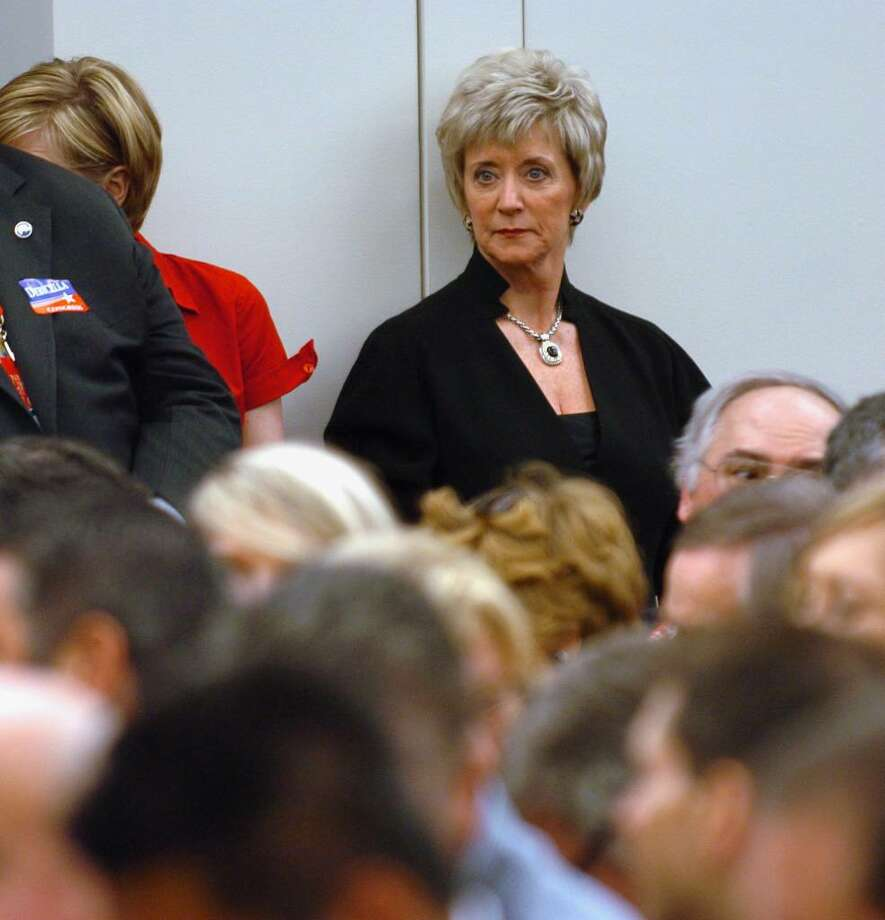 US Senate candidate Linda McMahon watches the proceedings during the 4th Congressional District nomination meeting at the GOP convention in downtown Hartford, Conn. on Friday May 21, 2010. Photo: Christian Abraham / Connecticut Post
