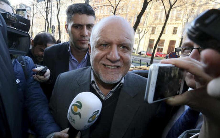 Iran's Minister of Petroleum Bijan Namdar Zangeneh speaks to journalists at a hotel in Vienna, Austria, Tuesday Nov. 29, 2016. (AP Photo/Ronald Zak) Photo: Ronald Zak