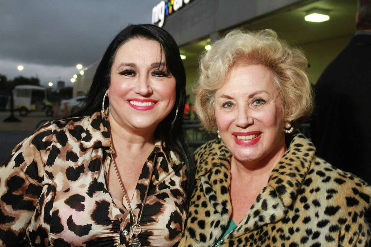 Fans attending the Dolly Parton concert at NRG Arena on Monday.