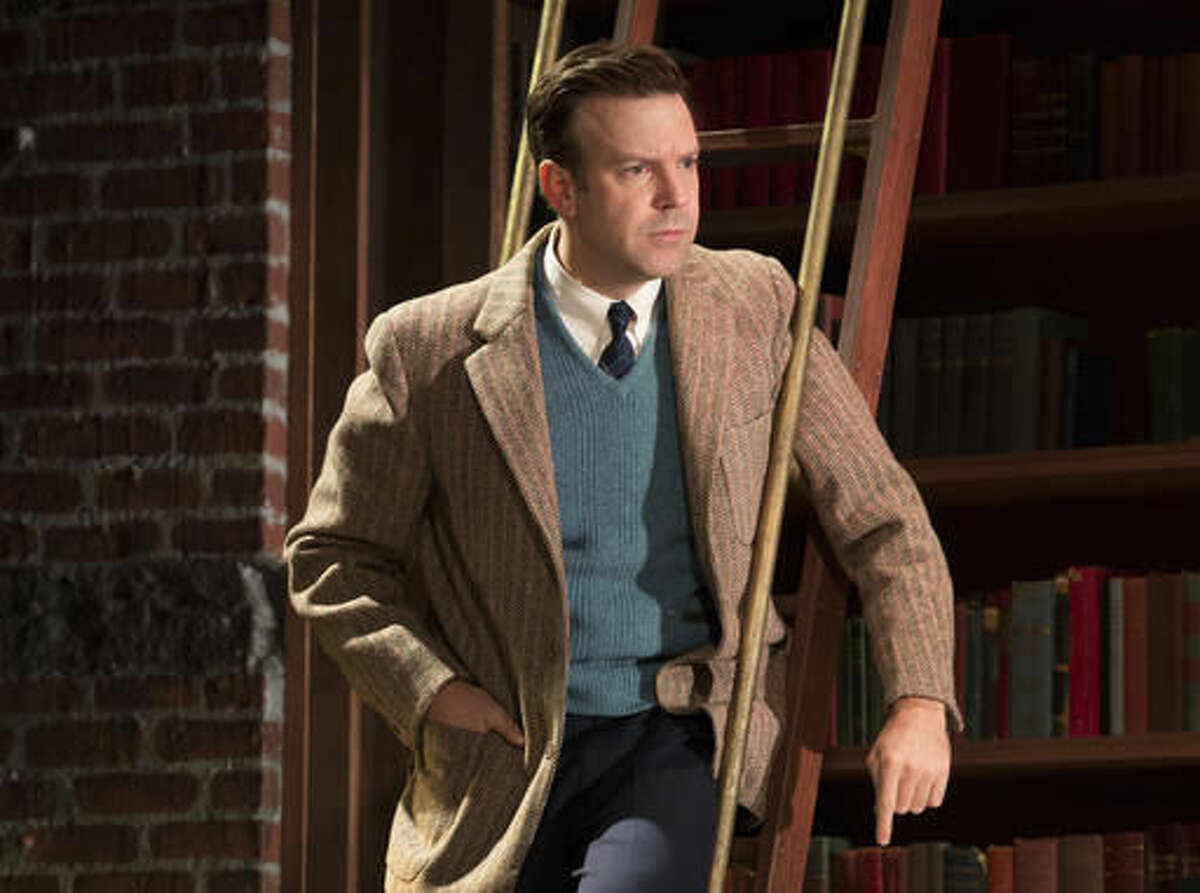 """In this image released by The Publicity Office, Jason Sudeikis appears during a performance of """"Dead Poets Society,"""" in New York. (Joan Marcus/The Publicity Office via AP)"""