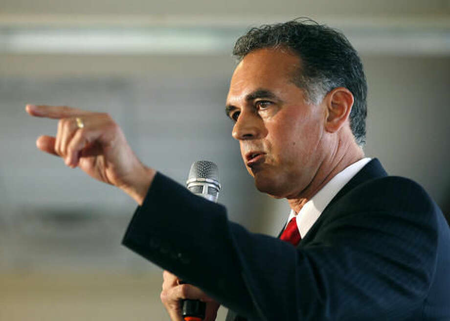 FILE - In this April 26, 2016 file photo, Danny Tarkanian participates in a Republican debate for Nevada's 3rd Congressional District in Henderson, Nev. Tarkanian, who narrowly lost the most expensive congressional race in the nation, is suing the Democrat Jacky Rosen who won, claiming that he was defamed in the final weeks of the campaign. (AP Photo/John Locher, File) Photo: John Locher