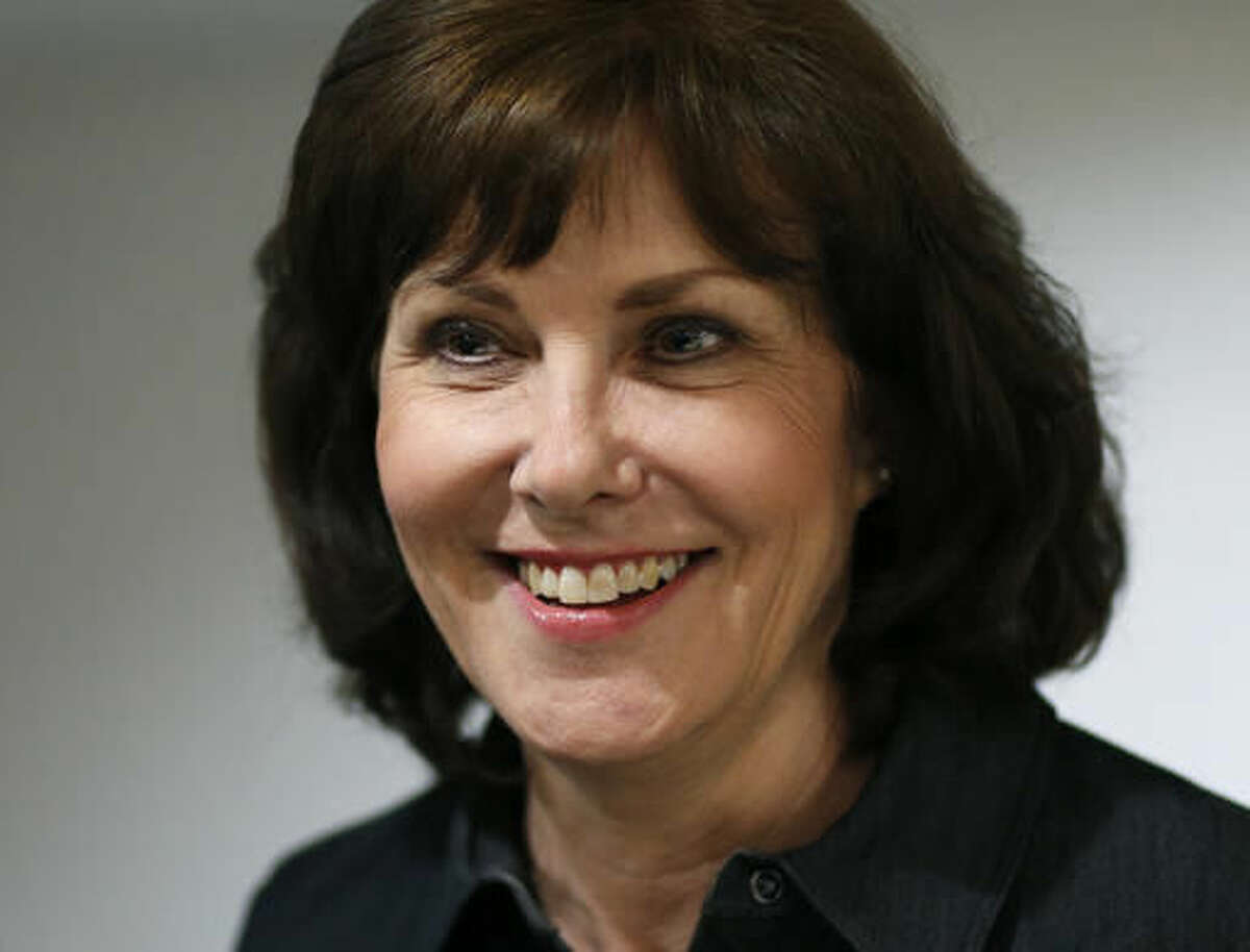 FILE - In this June 14, 2016 file photo, Democratic Congressional candidate Jacky Rosen attends an election night party in Las Vegas. Republican candidate Danny Tarkanian,who narrowly lost the most expensive congressional race in the nation to Rosen, is suing the Democrat, claiming that he was defamed in the final weeks of the campaign. (AP Photo/John Locher, File)