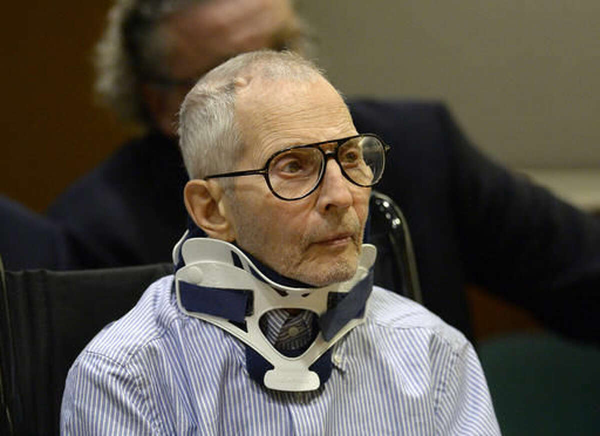 Real estate heir Robert Durst sits during a long-awaited appearance in a courtroom in Los Angeles on Monday, Nov. 7, 2016. Durst pleaded not guilty to murder Monday in the death of a friend who authorities said Durst wanted to keep from talking to investigators looking into the disappearance of his first wife. (Kevork Djansezian/Pool Photo via AP)