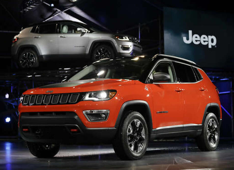 The 2017 Jeep Compass is displayed at the Los Angeles Auto Show in Los Angeles, Thursday, Nov. 17, 2016. (AP Photo/Chris Carlson) Photo: Chris Carlson