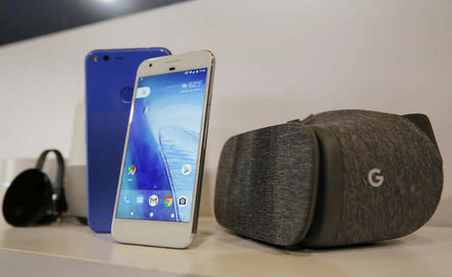 FILE- In this Oct. 4, 2016, file photo, the new Google Pixel phone is displayed next to a Daydream View virtual-reality headset, right, following a Google product event in San Francisco. Google is teaching a devastating lesson to some of its unwitting users: if you dare violate the company's policies, you can be abruptly cut off from your Gmail account and other digital services where vital information, indispensable documents and cherished photos are stored. Consumers who recently bought Pixel phones for a New Hampshire dealer are suffering through that harsh punishment after the internet company detected online purchases that violated its terms of service. (AP Photo/Eric Risberg, File) Photo: Eric Risberg