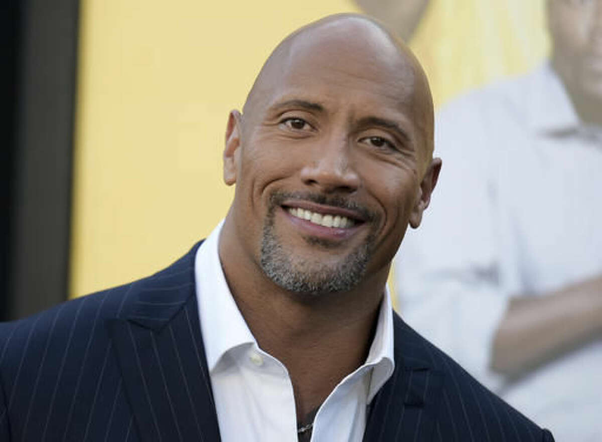 Dwayne Johnson attends the premiere of his film,