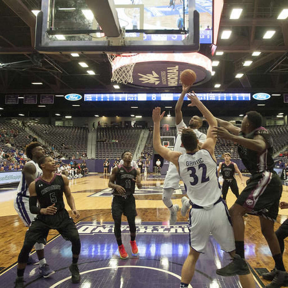 Stephen F. Austin's Dallas Cameron shoots against Centenary College during an NCAA college basketball, Saturday, Saturday, Dec. 3, 2016, at William R. Johnson Coliseum in Nacogdoches, Texas. (Tim Monzingo/The Daily Sentinel via AP)