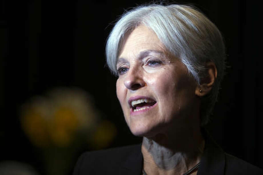 FILE - In this Oct. 6, 2016 file photo, Green party presidential candidate Jill Stein meets her supporters during a campaign stop at Humanist Hall in Oakland, Calif. Green Party-backed voters dropped a court case Saturday night, Dec. 3, 2016, that had sought to force a statewide recount of Pennsylvania's Nov. 8 presidential election, won by Republican Donald Trump, in what Green Party presidential candidate Stein had framed as an effort to explore whether voting machines and systems had been hacked and the election result manipulated. (AP Photo/D. Ross Cameron)