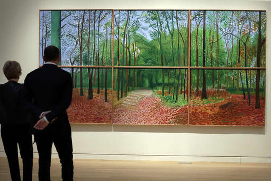 A retrospective exhibition of British painter David Hockney's most iconic works is on display at the Metropolitan Museum of Art through Feb. 25, 2018. Find out more.  Photo: Richard Drew