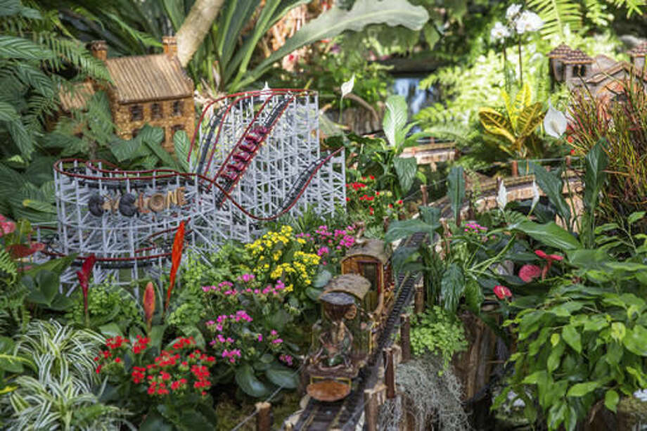 The New York Botanical Garden presents its annual holiday train show in the Bronx. The show features miniature replicas of New York City landmarks, all made from natural materials like twigs and pine cones. It runs through January 15, 2018. Find out more. Photo: HONS