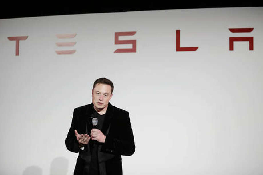 File photo of Elon Musk, CEO of Tesla Motors Inc. (AP Photo/Marcio Jose Sanchez, File) Photo: Marcio Jose Sanchez