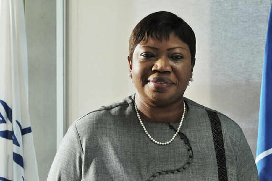 """The International Criminal Court's prosecutor Fatou Bensouda poses for a picture during an interview in The Hague, Netherlands, Tuesday, Nov. 22, 2016. Bensouda says it is a """"regression"""" for African nations, including her own home country of Gambia, to quit the court and says the continent should work together with her office to end impunity for atrocities. (AP Photo/Mike Corder) Photo: Mike Corder"""