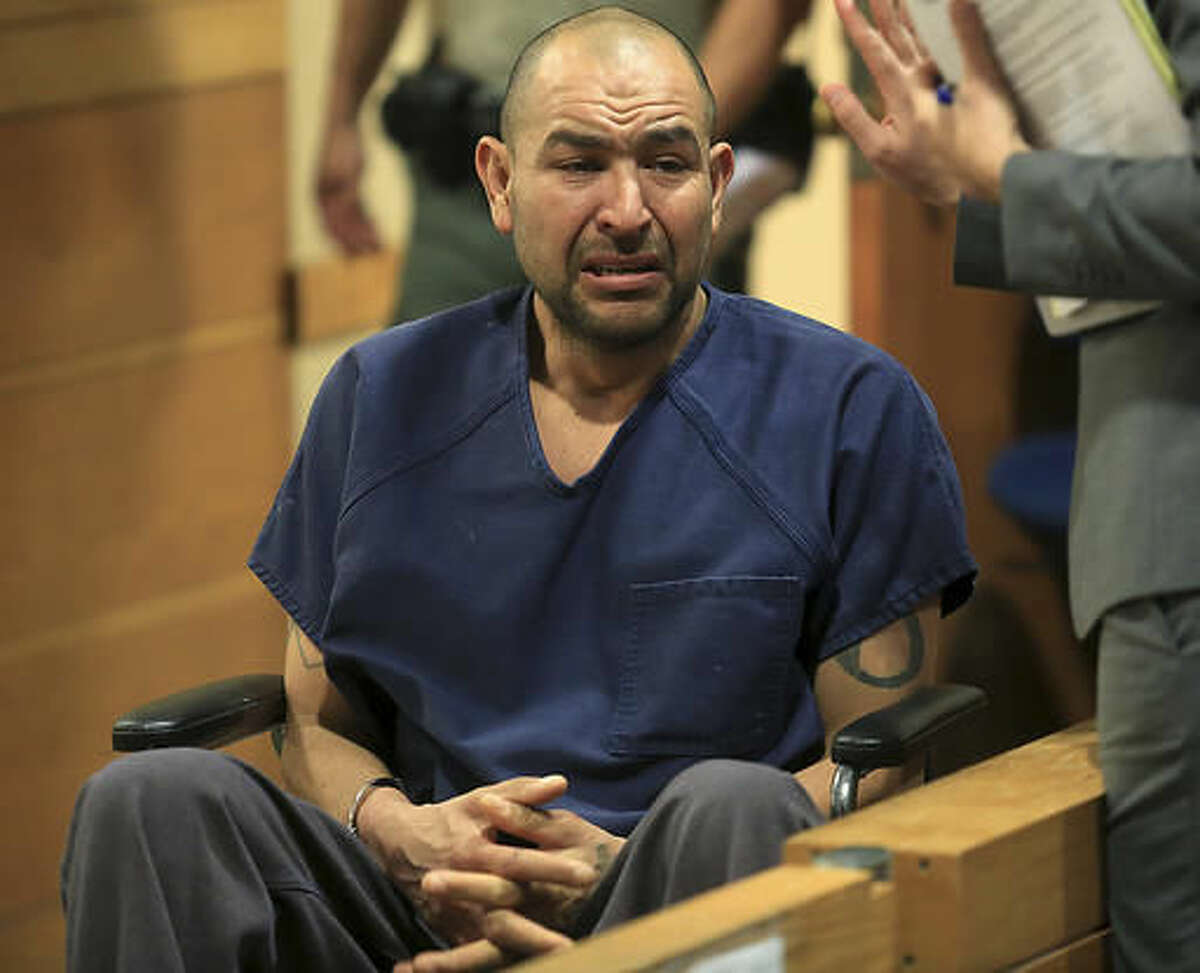 In this Tuesday, Nov. 22, 2016 photo, Gerardo Mendoza appears in Sonoma County Superior Court in Santa Rosa, Calif. Mendoza was charged with murder in connection with the drowning of his 4-year-old daughter in a baptismal pool at a church last weekend. (Kent Porter/The Press Democrat via AP)