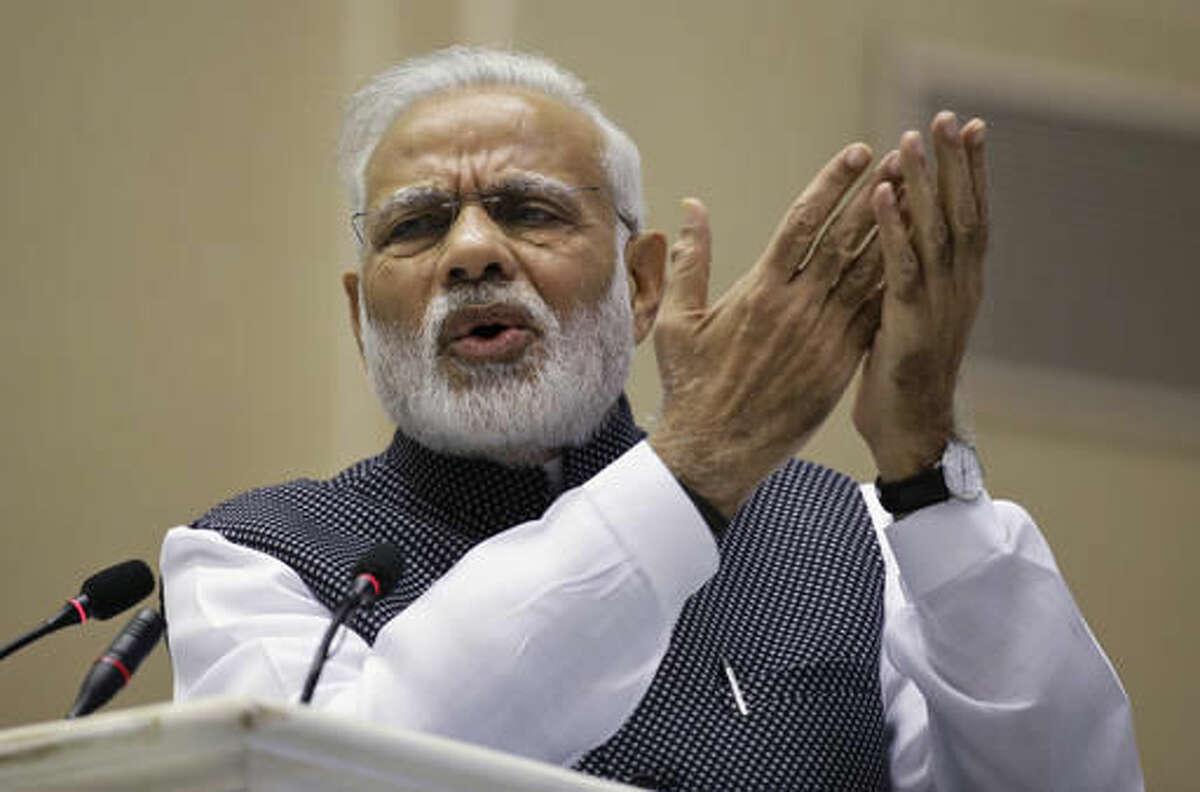 Indian Prime Minister Narendra Modi 40 million followers