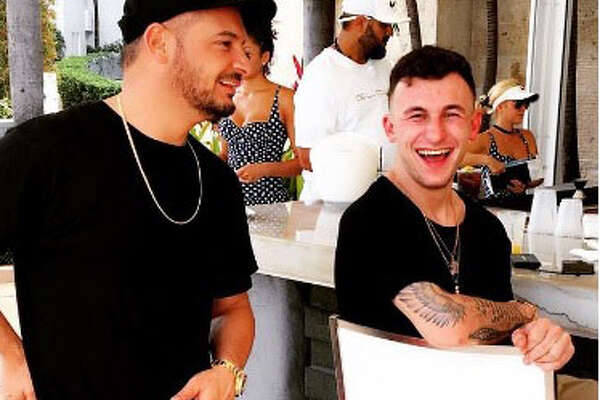 Former Texas A&M Quarterback Johnny Manziel, (right), rang in his 24th birthday partying in Miami on Dec. 5, 2016.