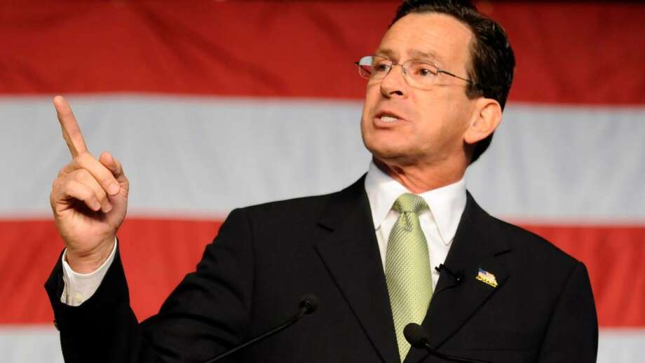 Dannel Malloy gives his acceptance speech after he won the Democratic gubernatorial nomination at the Democratic State Nominating Convention in Hartford, Conn., Saturday May 22, 2010.  (AP Photo/Bob Child) Photo: Bob Child, AP / AP 2010